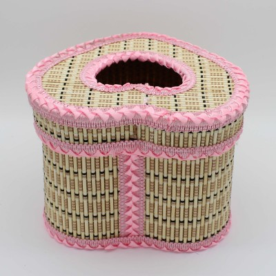 Cylindrical tissue box love bamboo crafts bamboo handicraft tourism craft souvenirs