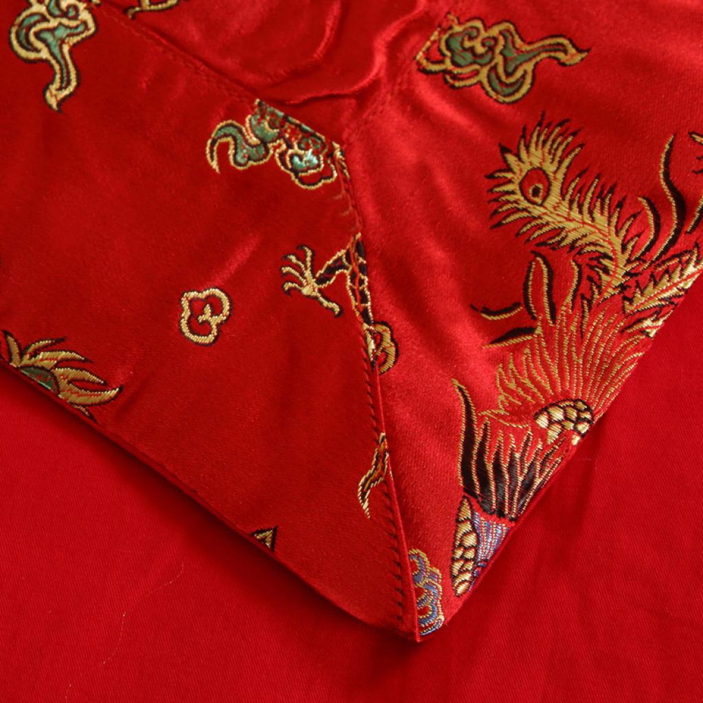 佳恋家纺  婚庆四件套 龙凤呈祥全棉刺绣提花贡缎床上用品包邮