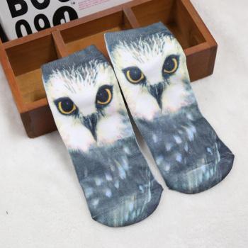 Thermal transfer boat socks 3D hyper-trendy Harajuku Style animal print socks cartoon socks