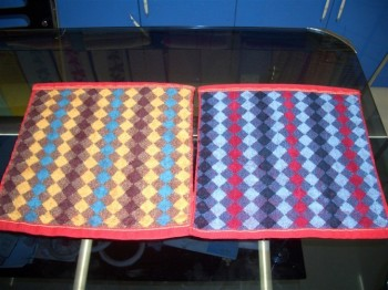 Pure cotton dark jacquard square towel foreign trade square can be made to order.