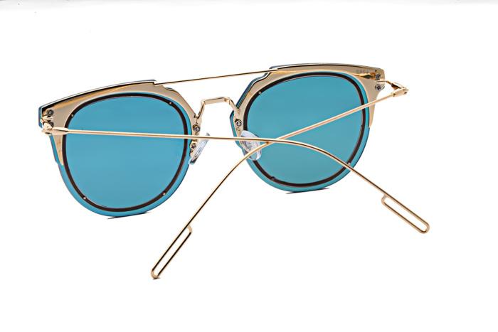 reflective circle sunglasses  mirror reflective