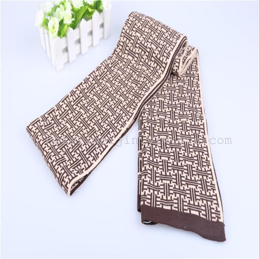 秋冬针织围巾 时尚韩版男士围巾 保暖围巾