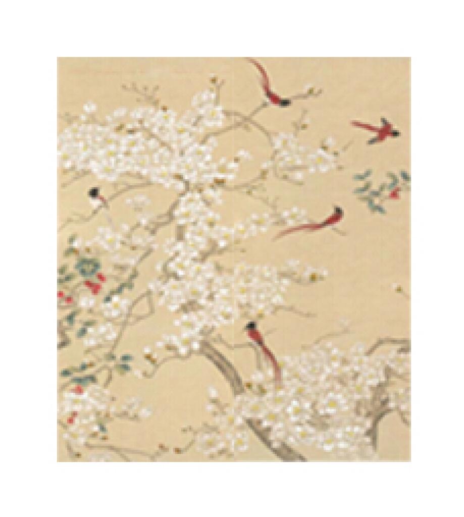 工笔花鸟 新中式 古典 装饰画 个性墙纸 酒店 ktv 家装图片