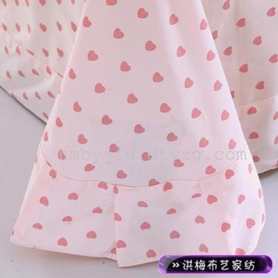 13372 活性 全棉 斜纹喷气式 全棉印花四件套—恋人蜜语