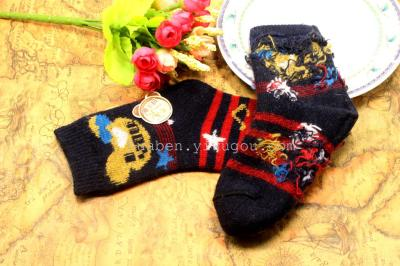 Children's wool socks in stock trade