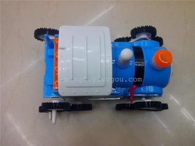 Cartoon train electric toy glowing cars