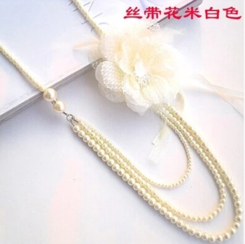 Pearl necklace long paragraph sweater chain shall not fade all-match multilayer