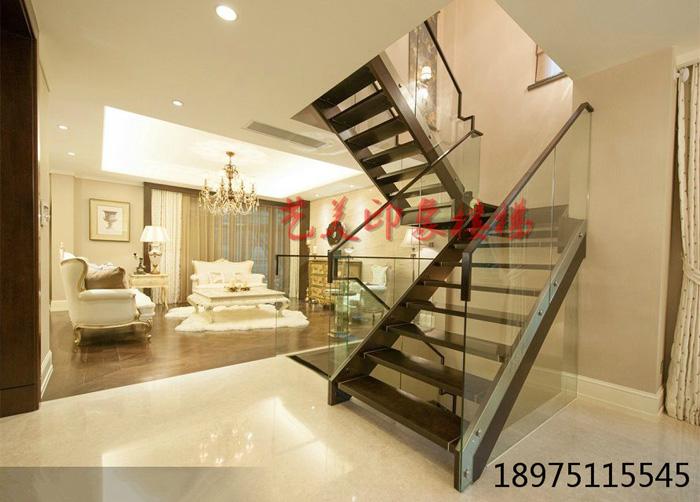 艺美印象楼梯别墅复式玻璃楼梯/现代简约玻璃护栏