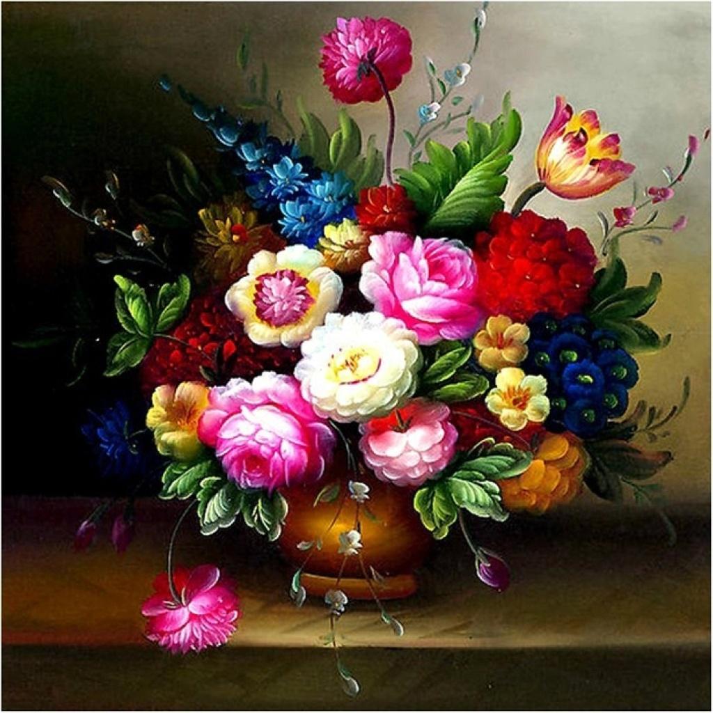 欧式油画花卉系列图片