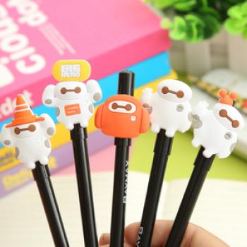 韩国文具大白签字黑笔 碳素创意水笔水性笔中性笔