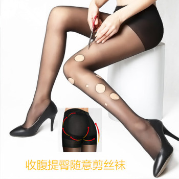 Abdomen hips any shear stockings free cutting thin tights anti summer tights primer hook silk