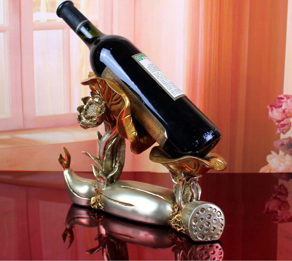 欧式树脂红酒架时尚创意家居饰品莲藕酒架