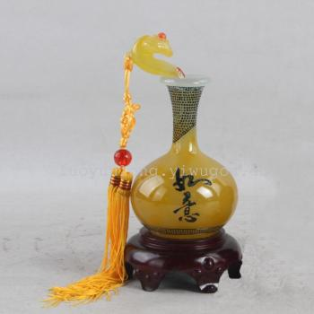 HZ369H little Christmas bottle-yellow home decor vases modern Chinese home decoration