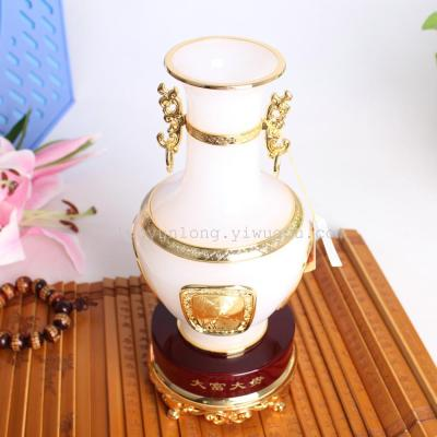 BZY206B rich your (white) colored glaze decoration business gifts home opening gifts vases