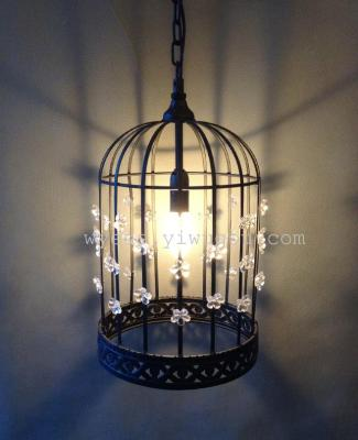 Wholesale and restaurant lighting L12240 chandelier in a cage-like chandelier