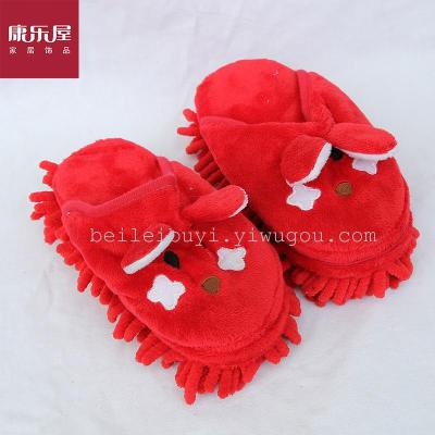 Leisure brand manufacturers selling trade stock chenille children shoes cleaning slippers creative home