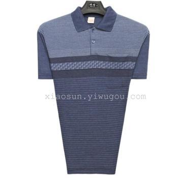 装填された老人の中年男性のプラスサイズのサンドレスショートスリーブシャツコットンの男の服のパパ