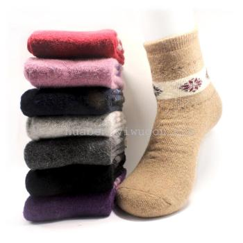 Rabbit wool socks terry socks thickening lady spot foreign trade