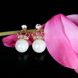 Earring female Pearl Earrings Taobao explosion star jewelry jewelry