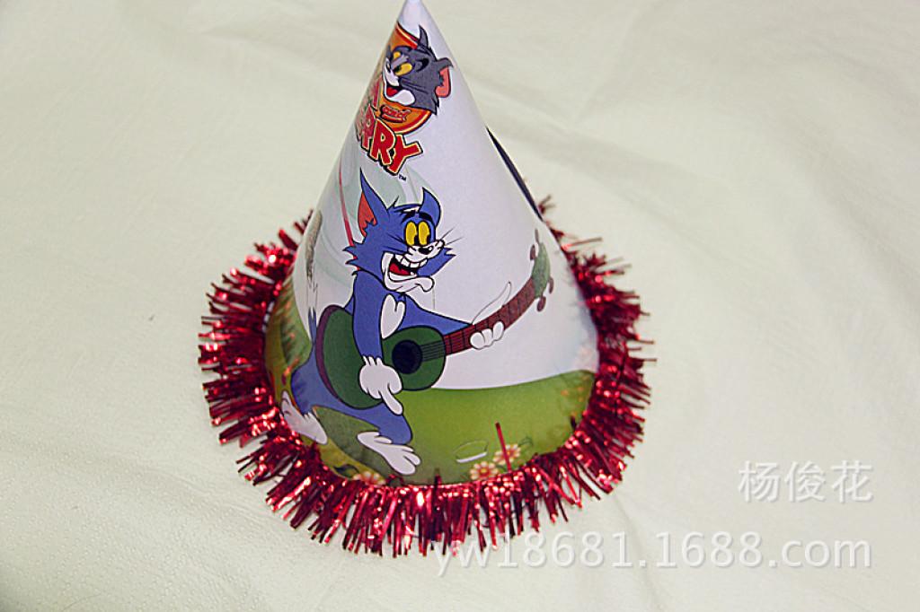 生日帽子/卡通带耳朵纸帽/万圣节装饰/圣诞装饰-生日帽子 生日装扮 快图片