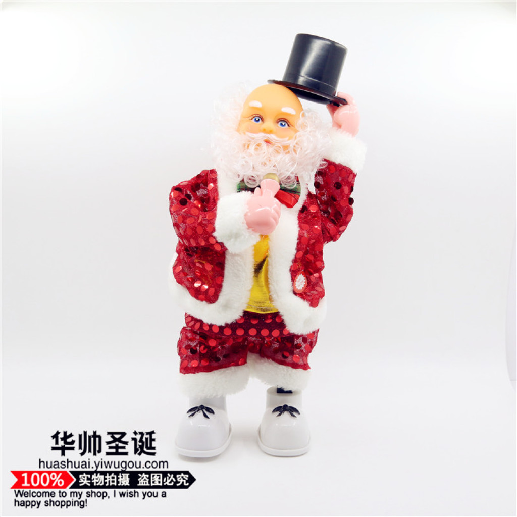 098dce0e72b22 Supply Singing dancing Santa plush electric Doll Toy Christmas products-