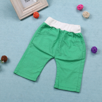Children's clothing boys ' casual pants in summer 2015 thin linen cotton cropped trousers