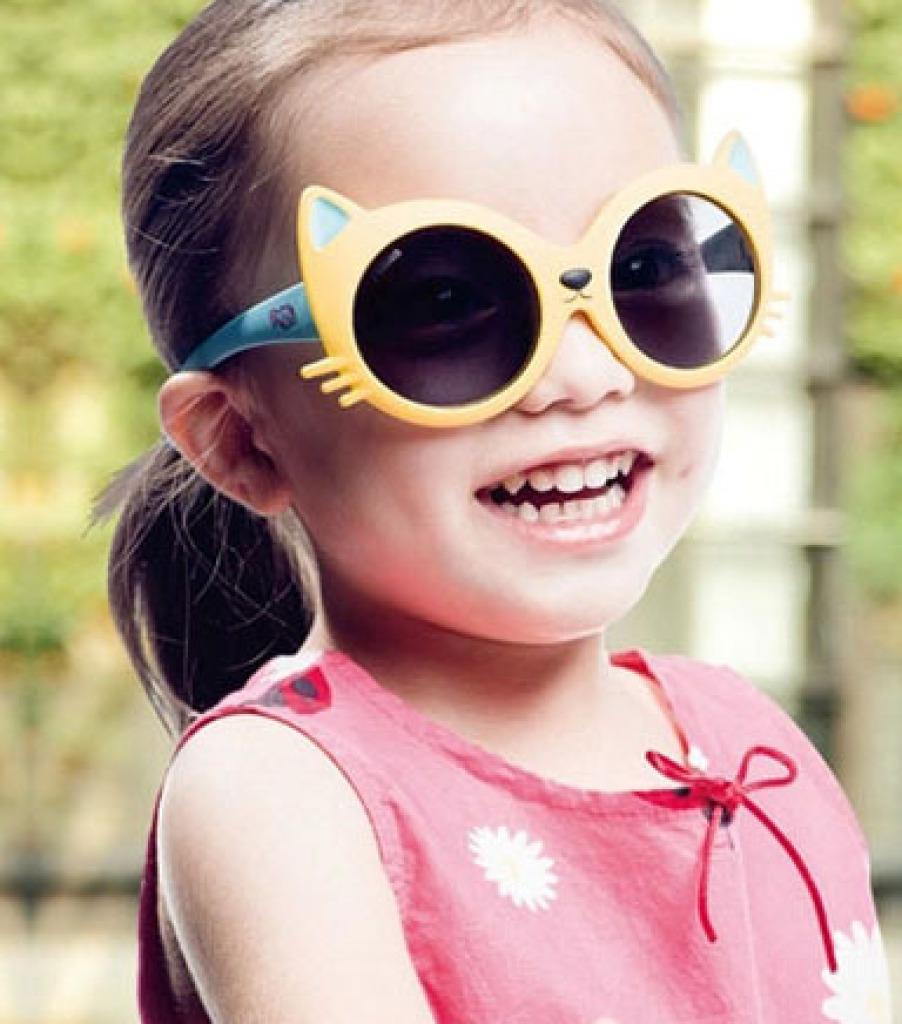 可爱儿童太阳镜男女童宝宝眼镜小猫造型墨镜太阳眼镜_临海市银光眼镜_义乌国际商贸城三区_义乌购