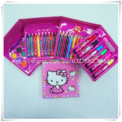 Children's cartoon gifts drawing colored pencils school supplies wholesale stationery set