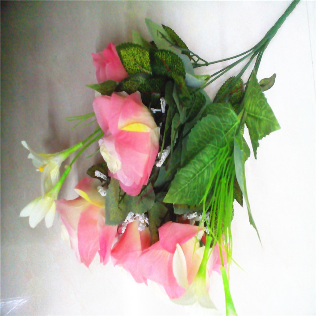 Supply 9 Lily Rose Artificial Flower Rose