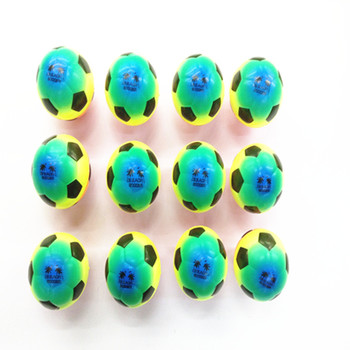 PU foam ball pressure elastic colored smiley sports ball fitness educational toy Green