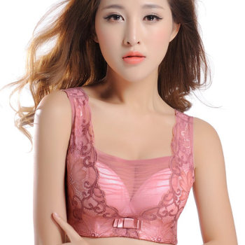 Lingerie wardrobe malfunction-proof vest with purple round bra-padded small breasts and adjustable bra summer Bras