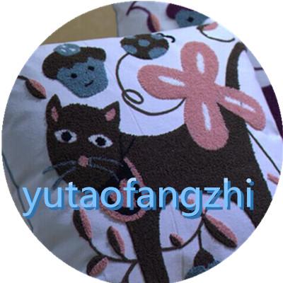 卡通棉麻绣花靠垫 套 抱枕图片
