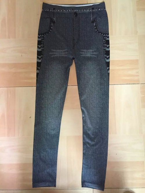 Seamless printed stretch leggings
