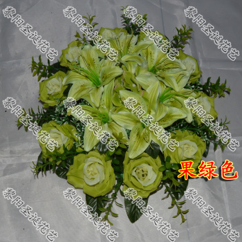 Small disc bouquets wedding car decoration table decorative flowers artificial flowers