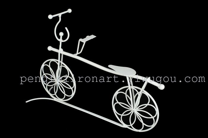 鹏飞铁艺自行车花篮自行车摆件婚礼道具工艺品