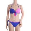 Handmade blue peach-color bikinis-swimwear