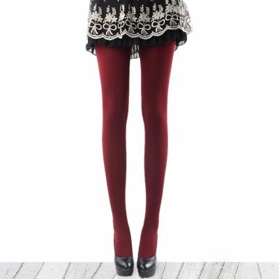 Fall/winter long woolen underwear pants pantyhose thick single layer charcoal brushed leggings Foot