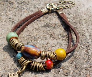 唯祎饰品 陶瓷饰品 星星diy手工创意编织手链