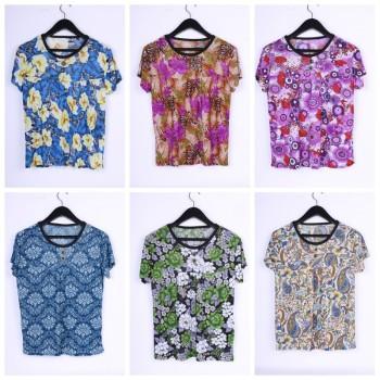 Factory direct summer new elderly ladies fashion mother dress wholesale elderly ladies summer dress