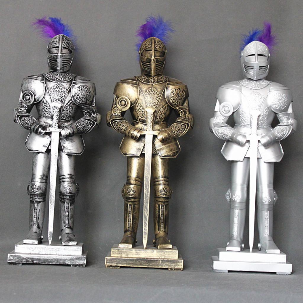 古铜古银欧式中世纪小盔甲