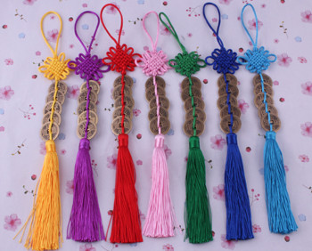 Supply Chinese knot tassels pendant lobster clasp small tassels-