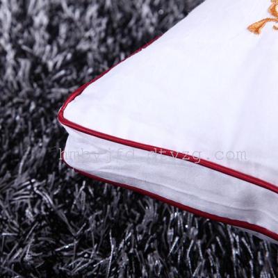 纤丝羽绒枕芯五星级酒店全棉贡缎提花羽丝绒枕头 舒适保健枕包邮