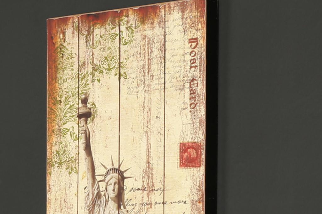 咖啡馆酒吧专用 欧式复古风格巴黎铁塔图案实木板画壁画装饰画