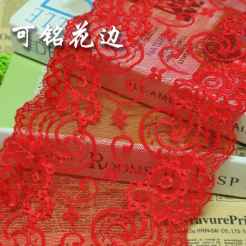 DIY handmade doll clothes red pleated cotton lace materials and features