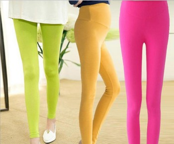 New pregnant nine minutes of pants leggings modal pregnant women stomach lift adjustable candy-wholesale