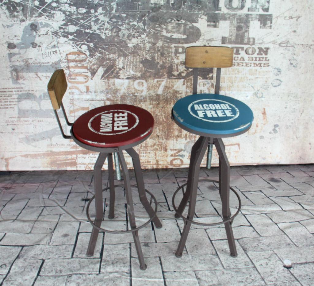 美式复古风格铁艺凳 酒吧咖啡厅专用桌椅
