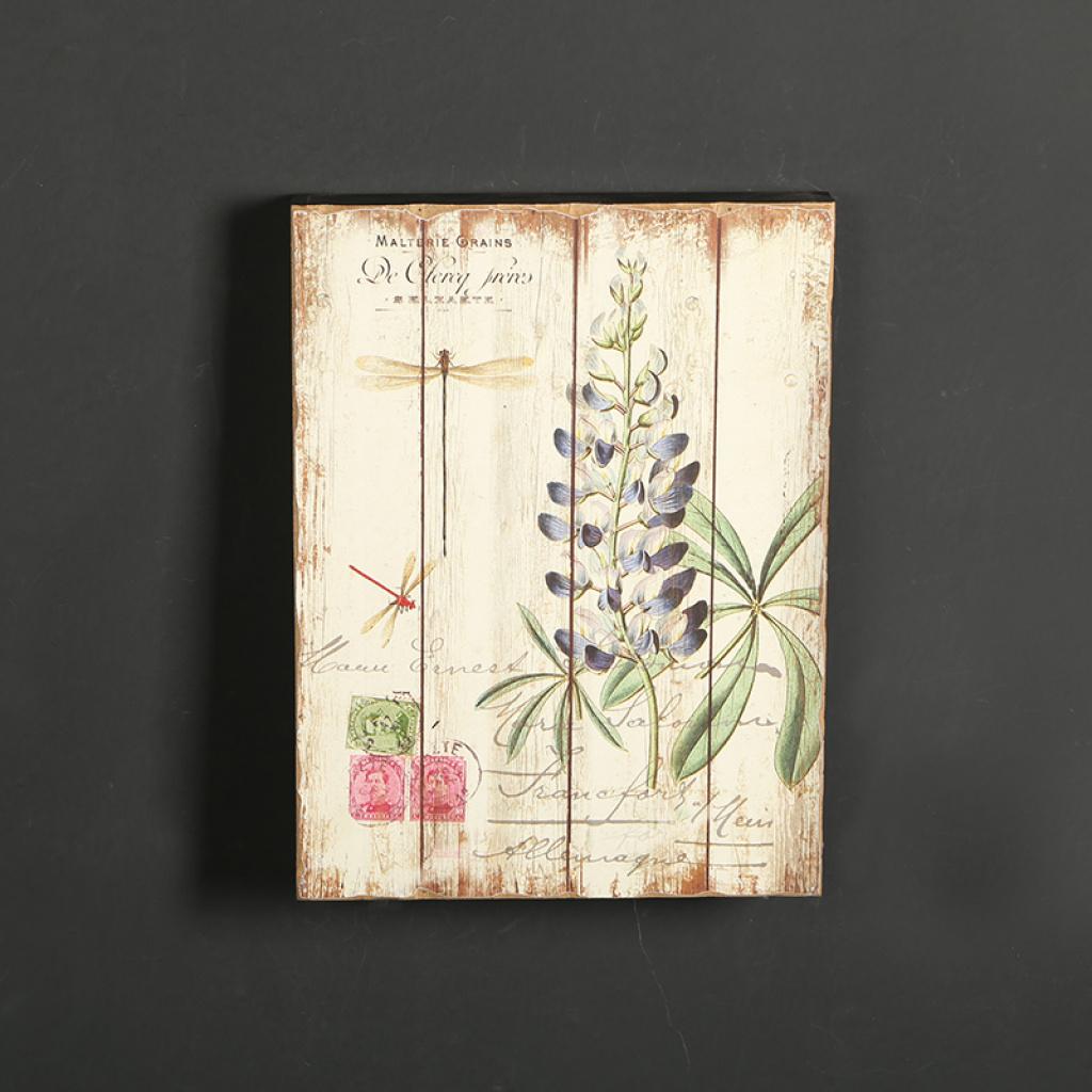 欧式田园风格木制装饰画墙壁画木版画