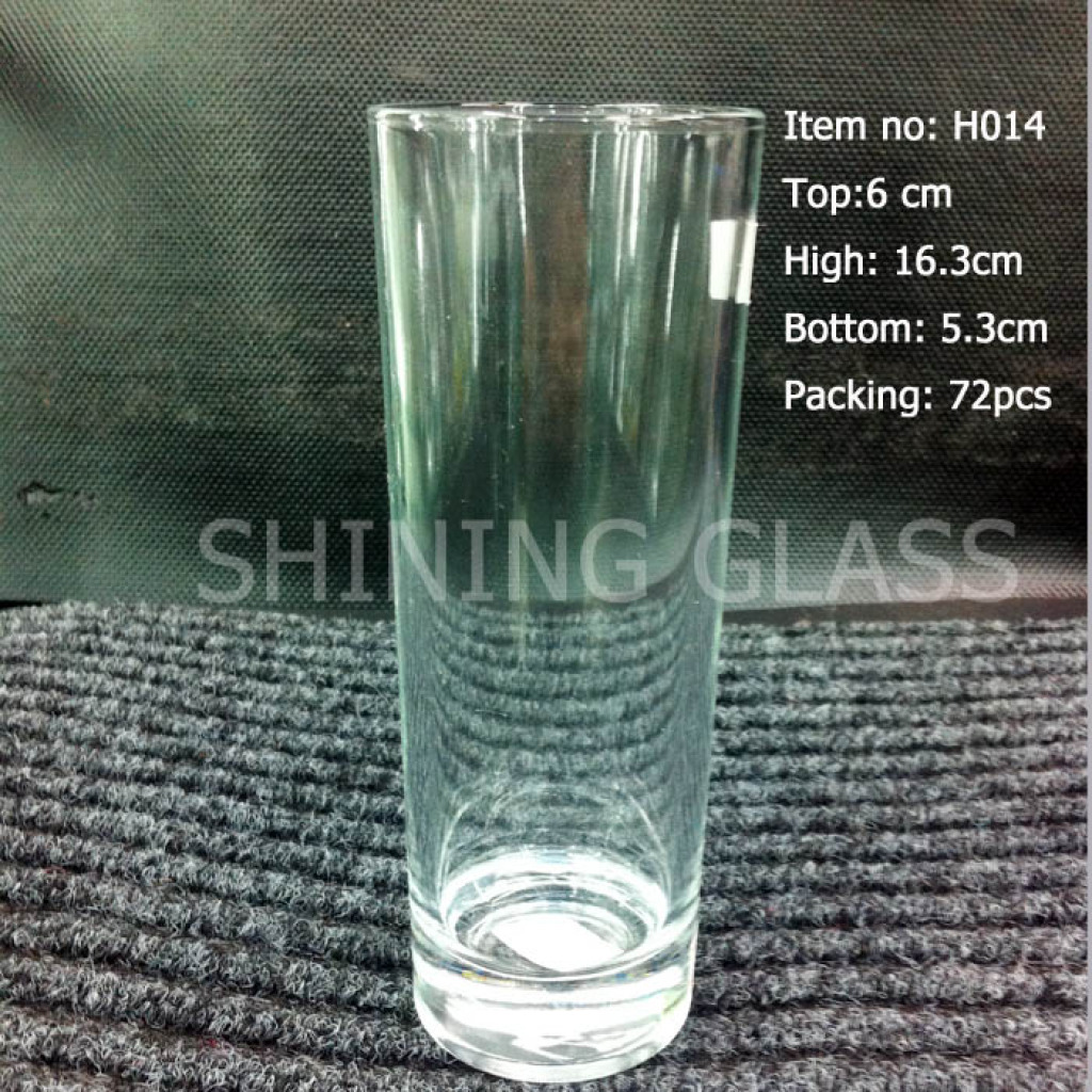 无盖直身玻璃杯批发家用无色透明直筒水杯牛奶杯柠檬