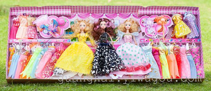 儿童玩具批发 新款可儿芭比娃娃大礼盒套装