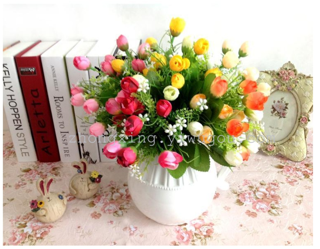 Supply Rose Bud Is Simulation 15 Wholesale Artificial Flowers